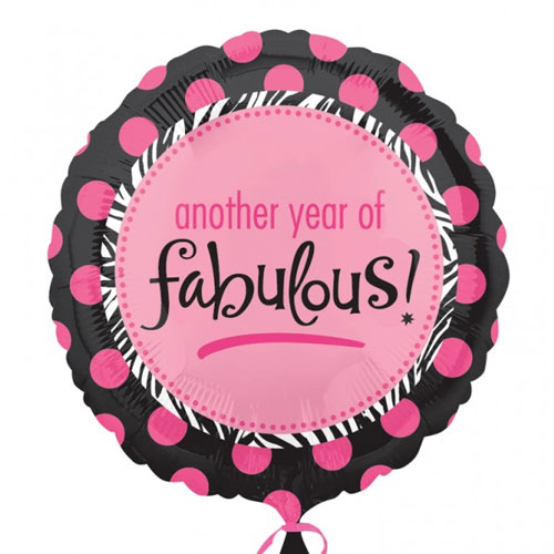 Another Year of Fabulous- Helium Balloon