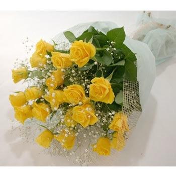 Yellow Roses with Baby's Breath