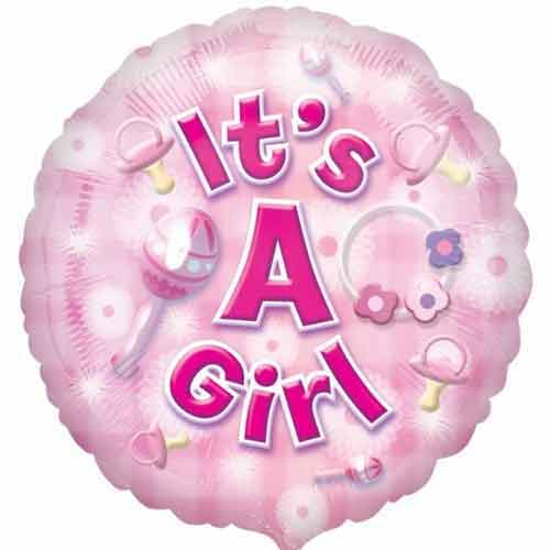 New Baby Helium Balloon- Its A Girl
