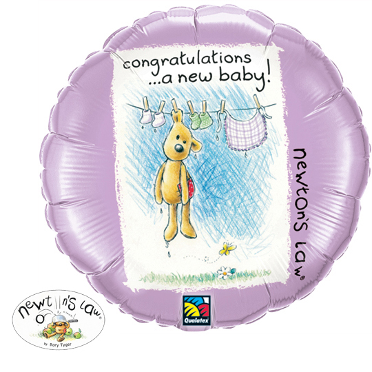 New Baby Unisex- Helium Filled Balloon