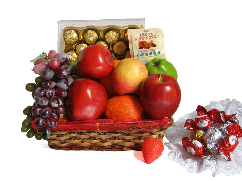 Fruit, Nuts & Chocolate Basket