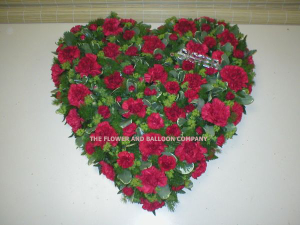 Heart Shaped Red Carnation Wreath