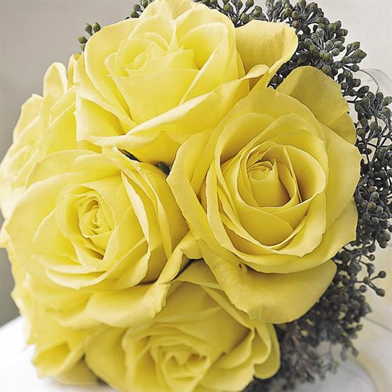 Wedding Flowers Yellow Roses: Flowerandballooncompany.com