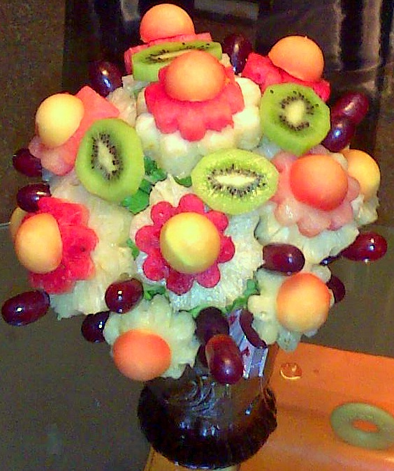 Fresh Fruit Bouquet-Shown as Standard- Contents may vary slightly