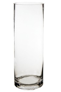 Cylinder Glass  Vase-12 Inches