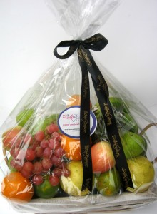 A Delicious Mix of Premium Quality Fruits in a Basket.