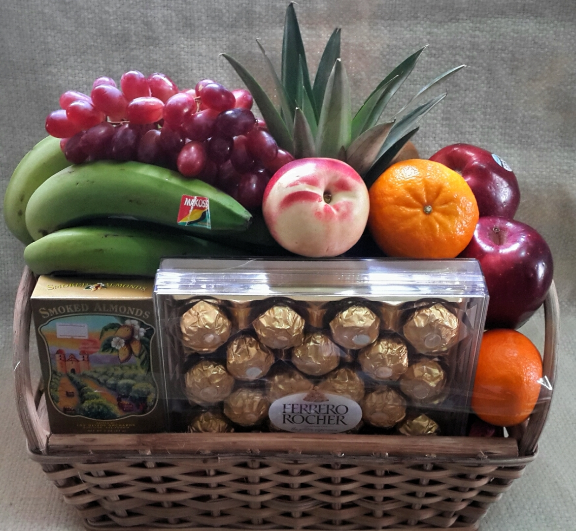 Fruit Basket,Chocolate & Nuts | flowerandballooncompany.com