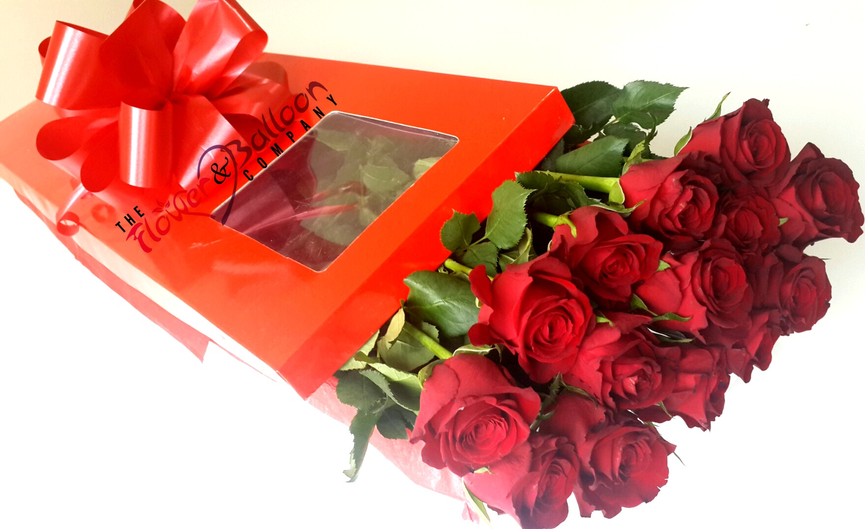 12 long stem red roses in presentation box flowerandballooncompany 12 long stem roses for valentines daybirthdays anniversary or just to say i love izmirmasajfo