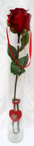 single rose in bottle with carry handle-flowerandballooncompany.com