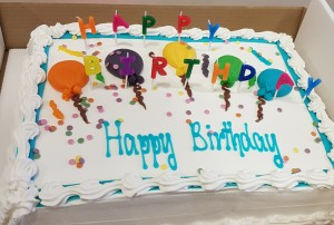 Celebration Birthday Cake with Candles- 12 Inches