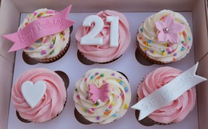 12 Celebration Cupcake gift- Flower and Balloon Company