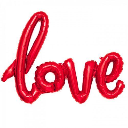 Red LOVE Foil Script Balloon