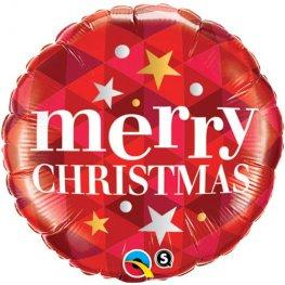 Round Foil Christmas Balloon