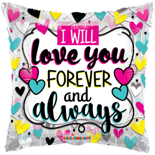 Balloon with Love You Forever Inscription
