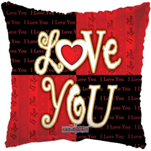 """Square """"Love You"""" Helium Foil Balloon"""