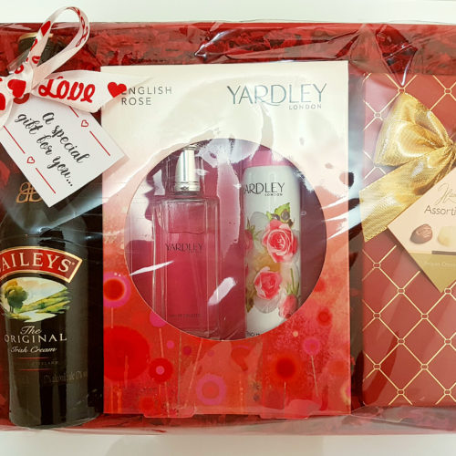 Gift Box with Fragrance set, Wine and Chocolate