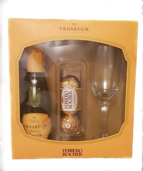 Prosecco Wine and Ferrero Rocher Gift Set