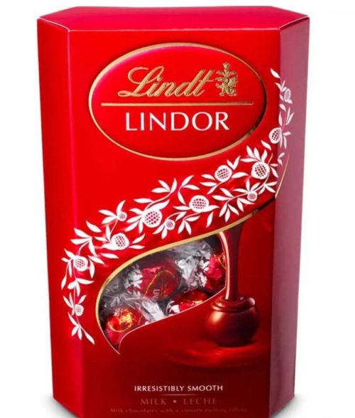 Red Lindt Lindor Chocolate boc