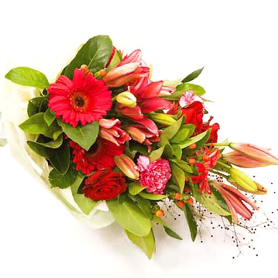 Gerbera,Roses,Carnation &Lilies Sheaf