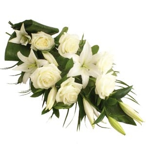 White Roses & Lilies Sheaf